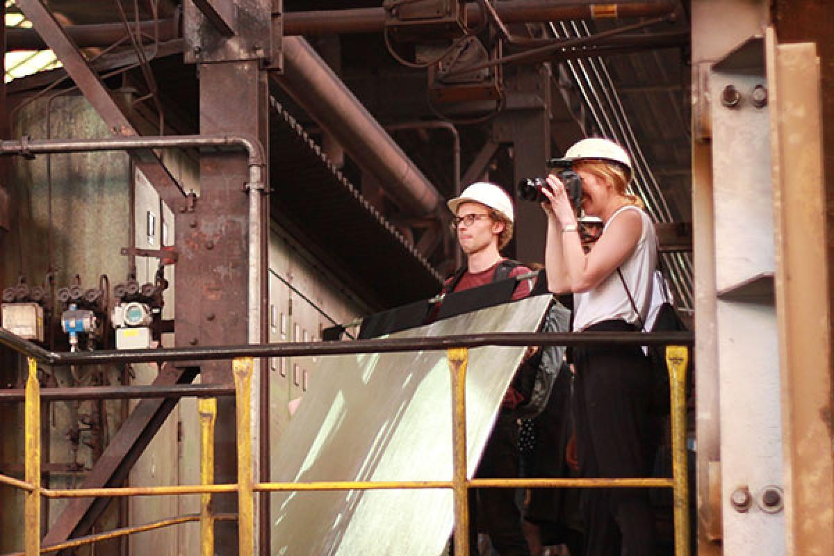 Profil zeigen: Fotoshooting im Walzwerk Königswinter